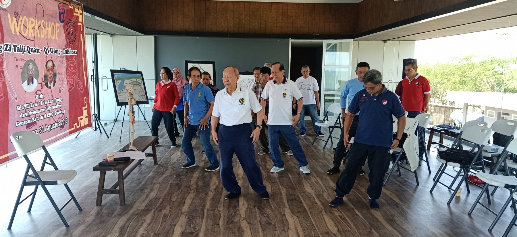 aktifitas pembelajaran taijiquan bersama komunitas Zheng Zi Taijiquan Taiwan